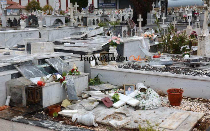 Ανεμοστρόβιλος άνοιξε τάφους στους Γαργαλιάνους