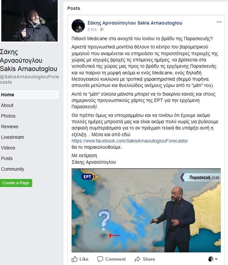 Πρόβλεψη για εκδήλωση μεσογειακού κυκλώνα στο Ιόνιο το βράδυ της Παρασκευής