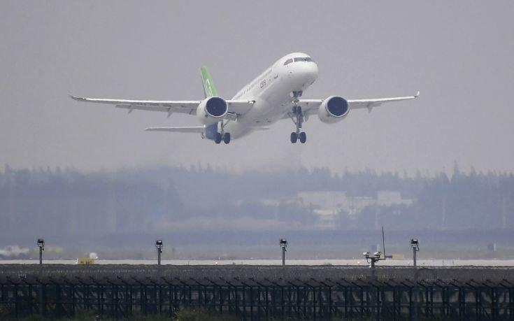 Πτήση – ορόσημο για το κινεζικής κατασκευής τζετ C919