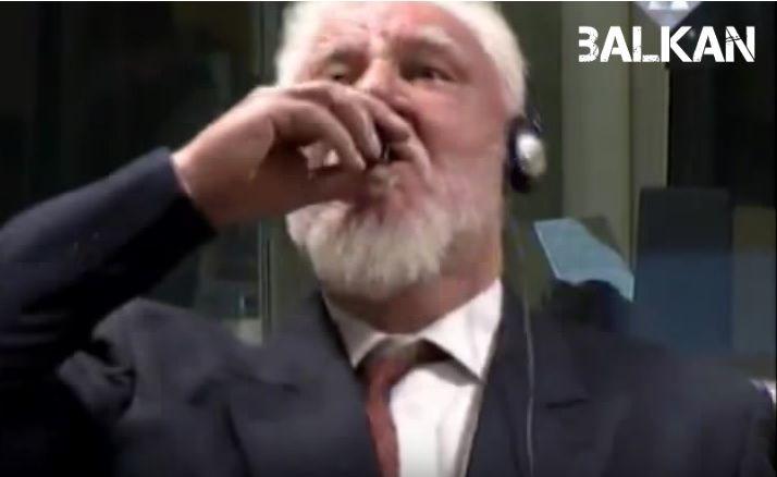 Κατηγορούμενος για εγκλήματα πολέμου ήπιε δηλητήριο μόλις ανακοινώθηκε η ποινή του