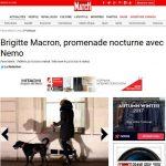 Βραδινή βόλτα για τη Μπριζίτ Μακρόν και τον προεδρικό σκύλο Νέμο