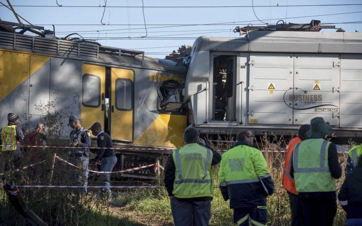 Περισσότεροι από 200 τραυματίες σε σύγκρουση δύο τρένων στο Γιοχάνεσμπουργκ
