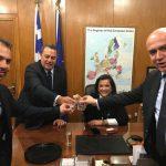 Υποδοχή με τσίπουρα για την Ντόρα Μπακογιάννη στη Θράκη
