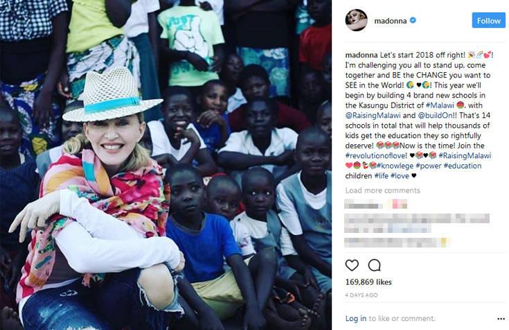 Τέσσερα νέα σχολεία στο Μαλάουι θα ανοίξει η Μαντόνα