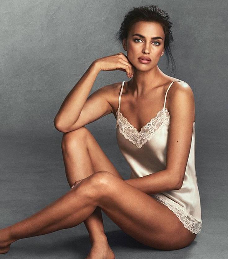 Η Ιρίνα Σάικ με ρομαντικά και σέξι εσώρουχα