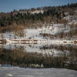 Υπέροχη όπως πάντα η χιονισμένη λίμνη Πλαστήρα