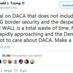 Τραμπ: Χάσιμο χρόνου μια πρόταση ασφάλειας χωρίς τείχος με το Μεξικό