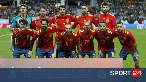 """Οι 19 """"σίγουροι"""" της εθνικής Ισπανίας για το Μουντιάλ"""
