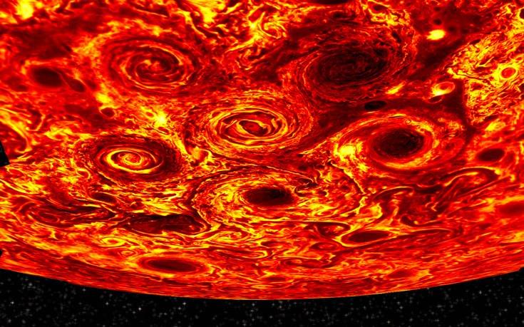 Νέες εντυπωσιακές ανακαλύψεις για τον πλανήτη Δία