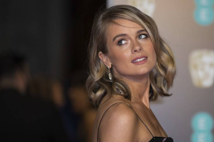 Cressida Bonas poses for photographers upon arrival at the BAFTA Awards 2018 in London, Sunday, Feb. 18, 2018. (Photo by Vianney Le Caer/Invision/AP)
