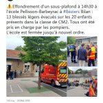 Η ψευδοροφή σχολείου στη Γαλλία κατέρρευσε και τραυμάτισε παιδιά
