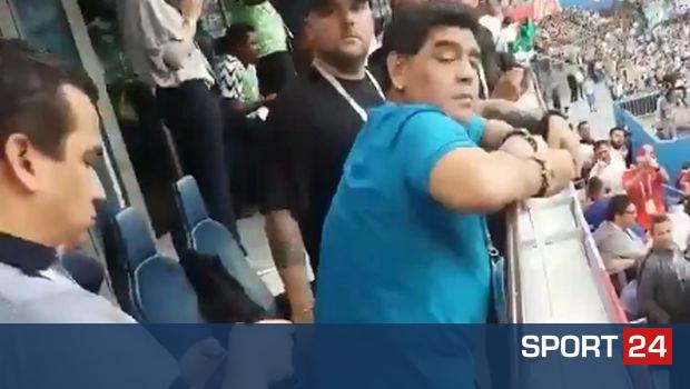 Ο Μαραντόνα δεν καταλάβαινε τι γινόταν γύρω του (VIDEO)