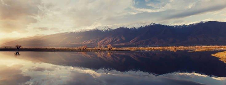 Ονειρικό σκηνικό στη λίμνη Κερκίνη