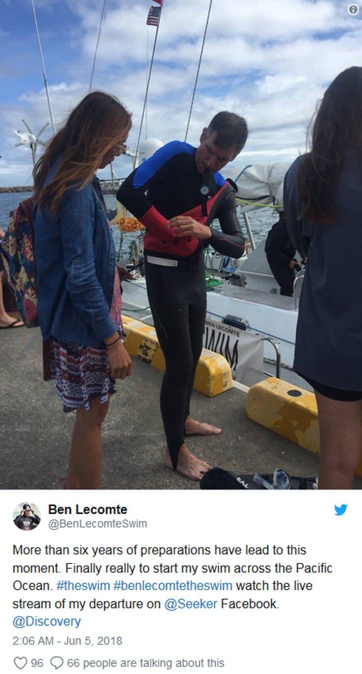 Γάλλος επιχειρεί να γίνει ο πρώτος άνθρωπος που θα διασχίσει κολυμπώντας τον Ειρηνικό
