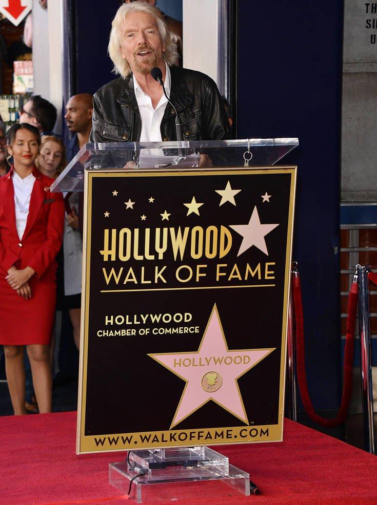 Ο Ρίτσαρντ Μπράνσον απέκτησε το δικό του αστέρι στη Λεωφόρο της Δόξας