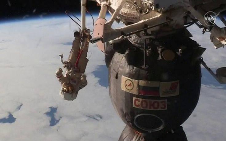Ο διαστημικός περίπατος δυο Ρώσων κοσμοναυτών