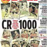 Εκπληκτικό πρωτοσέλιδο της A Bola για το 1.000ο ματς του Ρονάλντο