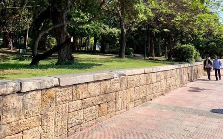 Αντιγκράφιτι παρέμβαση στο Πάρκο Ευαγγελισμού από τον Δήμο Αθηναίων