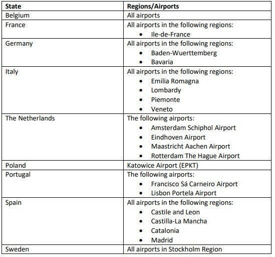Τα πιο επικίνδυνα αεροδρόμια για μετάδοση του κορονοϊού – Ποιες χώρες είναι υψηλού κινδύνου
