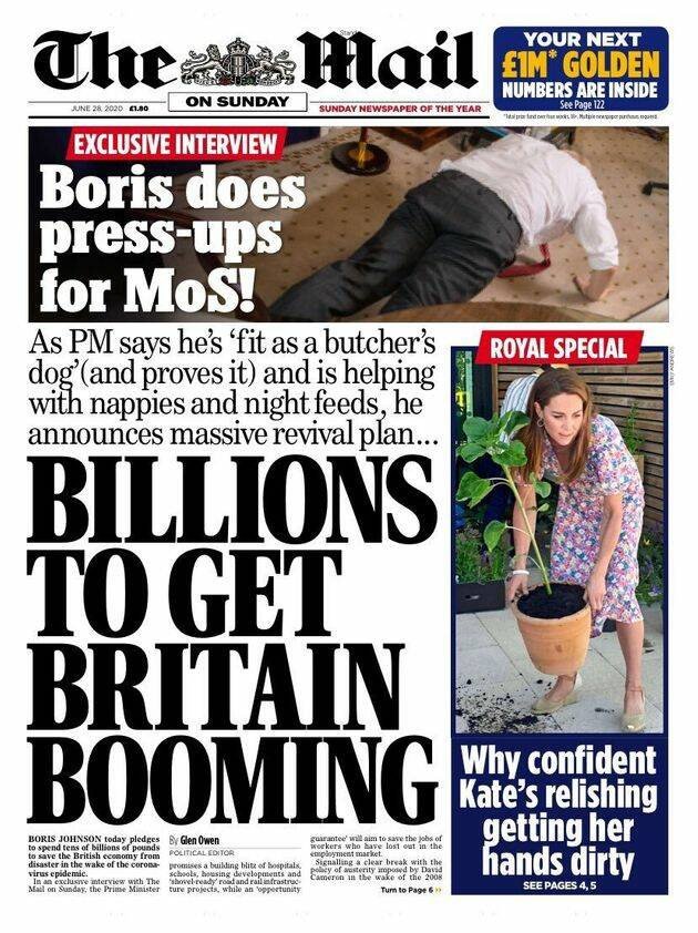 Ο πρωθυπουργός Μπόρις Τζόνσον πέφτει και κάνει κάμψεις για να δείξει ότι είναι «γεμάτος ενέργεια»