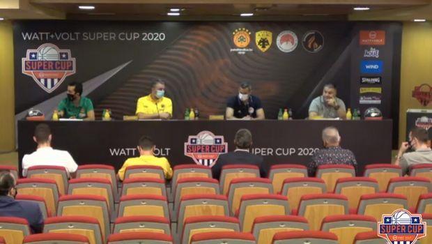 "Super Cup: ""Κανείς στο 100% ετοιμότητας, όλοι ανυπόμονοι για το τουρνουά"""
