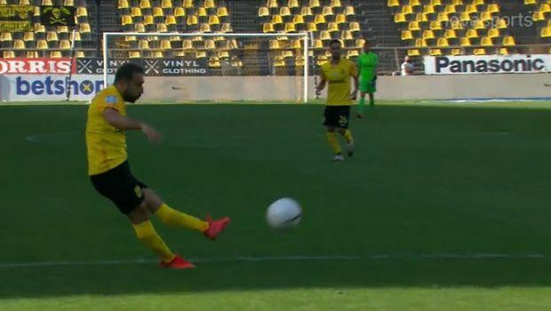 Άρης - ΠΑΣ: Ο Φετφατζίδης μείωσε σε 2-1 με εξαιρετικό σουτ