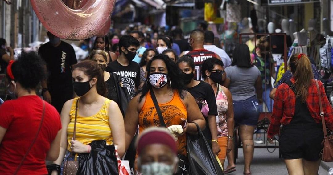 Μείωση στον αριθμό των νοσηλειών και θανάτων από κορωνοϊό στη Βραζιλία