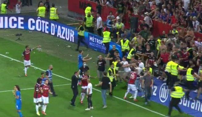 Νις – Μαρσέιγ: Εισβολή των οπαδών στον αγωνιστικό χώρο του Allianz Riviera