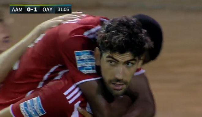 Λαμία – Ολυμπιακός: Το 2-0 των ερυθρολεύκων με τον Μπουχαλάκη