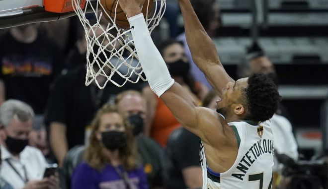 ΝΒΑ: Το αξέχαστο άλεϊ ουπ κάρφωμα νίκης του Γιάννη Αντετοκούνμπο στο Game 5 των NBA Finals, στην κορυφή του Top-100