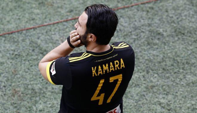 Ο Καρυπίδης πήγε με φανέλα του Καμαρά στο ματς με τον ΟΦΗ