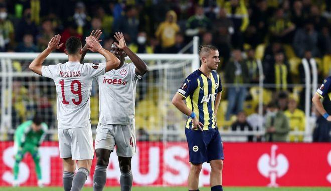 Φενέρμπαχτσε – Ολυμπιακός: Έκανε πλάκα ο Μασούρας, 0-3 με νέα σουτάρα στο 68'