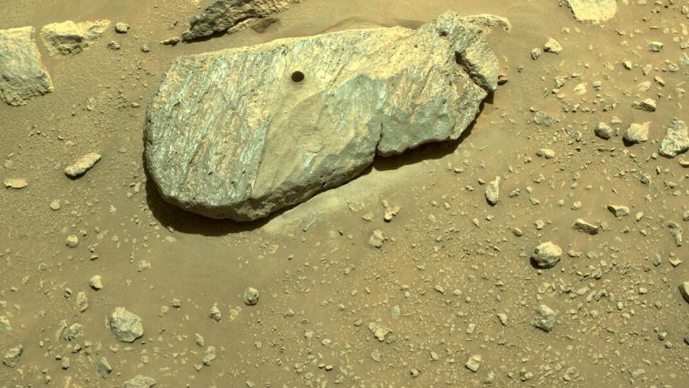 NASA: Επιβεβαίωσε ότι συλλέχθηκε πρώτο πέτρινο δείγμα στον Άρη από ρόβερ Perseverance