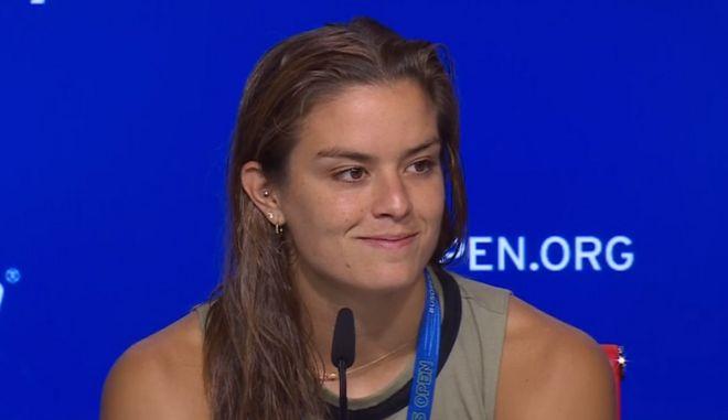 """Σάκκαρη: """"Αφιερώνω τη νίκη στην Ελλάδα, με κάνει χαρούμενη να βλέπω τους Έλληνες περήφανους"""""""